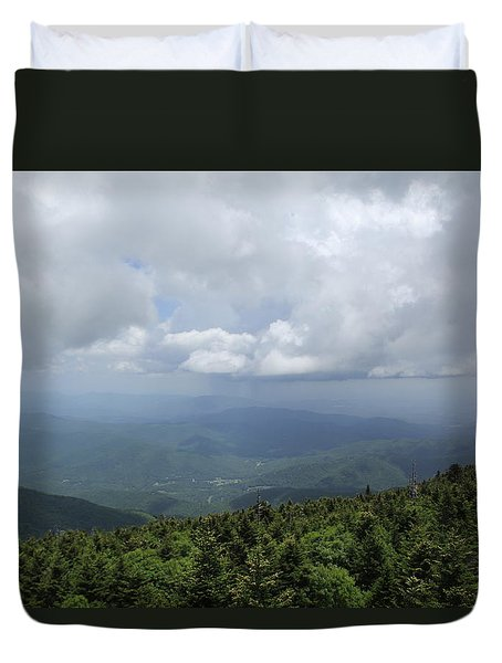 Distant Storm Duvet Cover