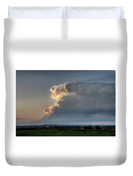 Distant Thunderstorm Duvet Cover