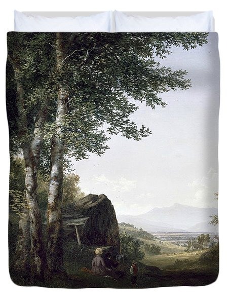 Distant View Of The Mansfield Mountain Vermont Duvet Cover