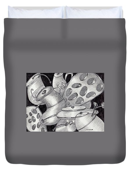 Distorted Images Duvet Cover by Quwatha Valentine