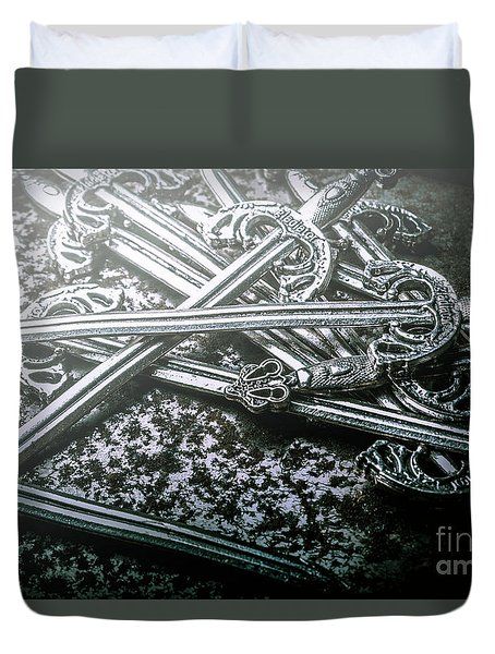 Distortions From Fables Conquered Duvet Cover