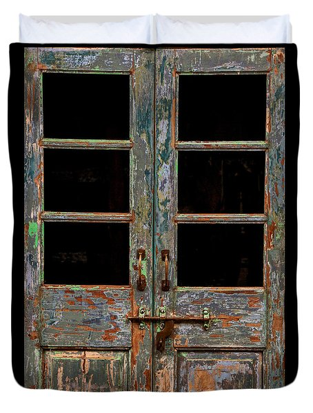 Distressed Doors Duvet Cover