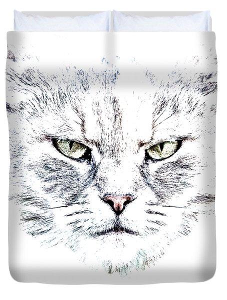 Disturbed Cat Duvet Cover