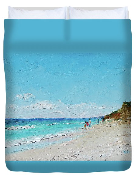 Ditch Plains Beach Montauk Hamptons Ny Duvet Cover