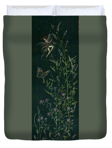Ditchweed Fairy Hello Butterfly Duvet Cover by Dawn Fairies