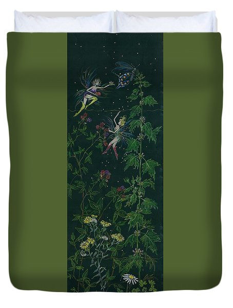 Ditchweed Fairy Raspberry Picking Duvet Cover