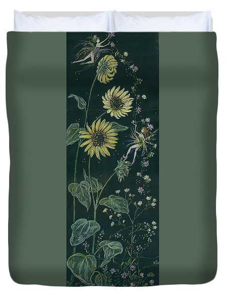 Ditchweed Fairy Sunflowers Duvet Cover