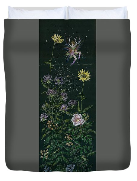 Ditchweed Fairy Wild Rose Duvet Cover by Dawn Fairies