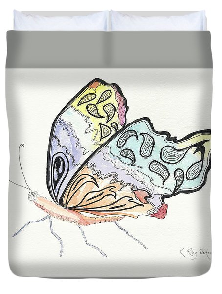 Duvet Cover featuring the painting Diva by Kathryn Riley Parker