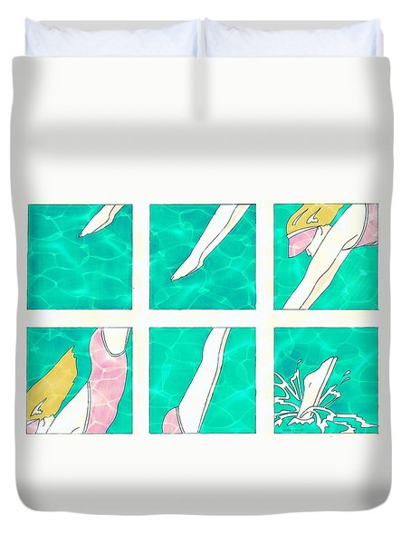Dive Duvet Cover