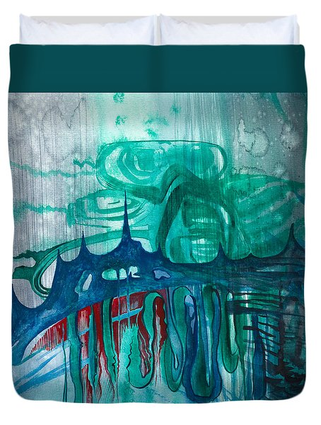 Diver Duvet Cover by Adria Trail