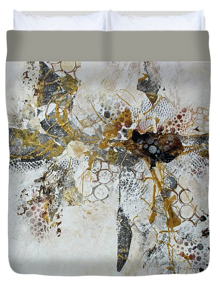Duvet Cover featuring the painting Diversity by Joanne Smoley