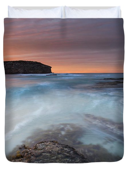 Divided Tides Duvet Cover by Mike  Dawson