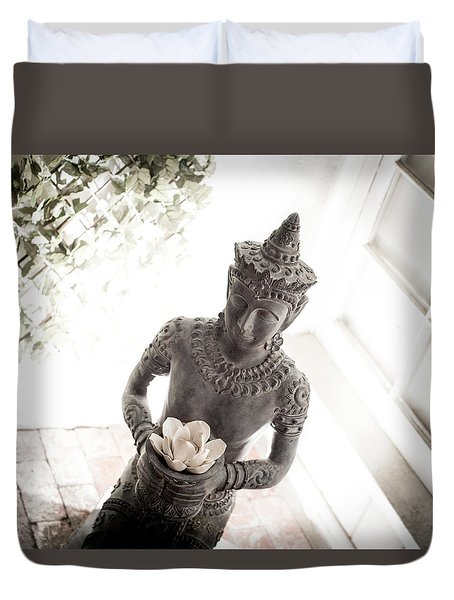 Duvet Cover featuring the photograph Divine Back Light by T Brian Jones