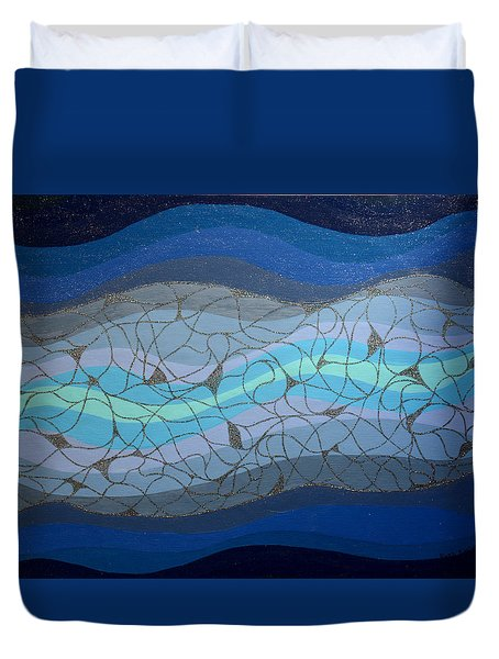 Divine Flow Duvet Cover