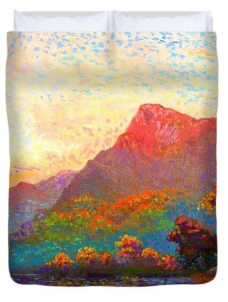Buddha Meditation, Divine Light Duvet Cover