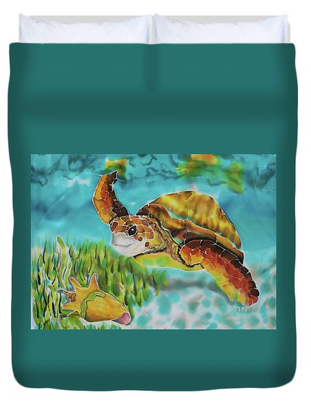 Diving Conch Duvet Cover