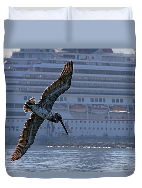 Diving For Breakfast Duvet Cover