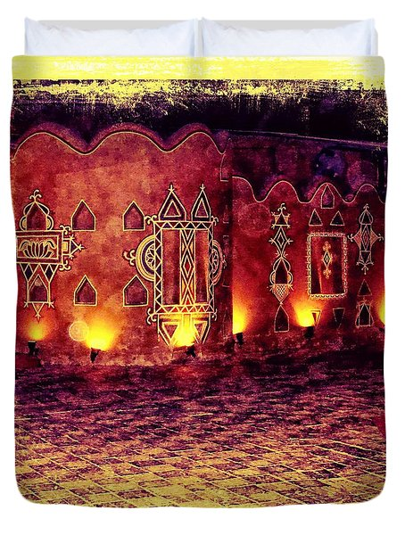 Diwali Lamps And Murals Blue City India Rajasthan 2a Duvet Cover