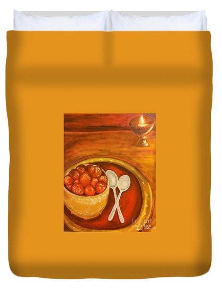Diwali Sweets Duvet Cover