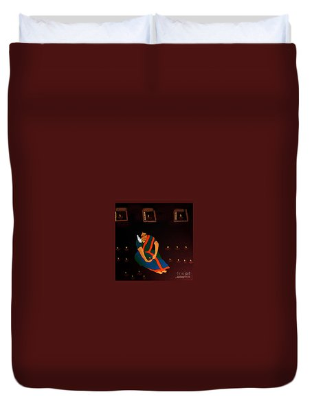 Diwali-the Night Of Diyas Duvet Cover