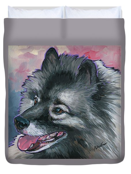 Duvet Cover featuring the painting Dixie by Nadi Spencer
