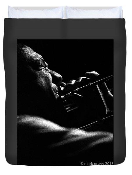 Dixieland Trombone New Orleans Duvet Cover