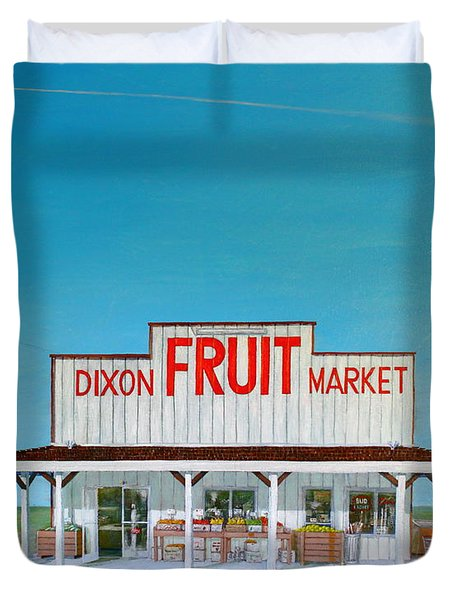Dixon Fruit Market 1992 Duvet Cover by Wingsdomain Art and Photography
