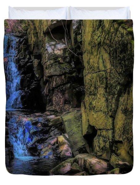 Dixville Notch Flume Brook Duvet Cover