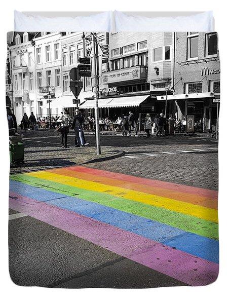 Diy Rainbow Crossing  Duvet Cover