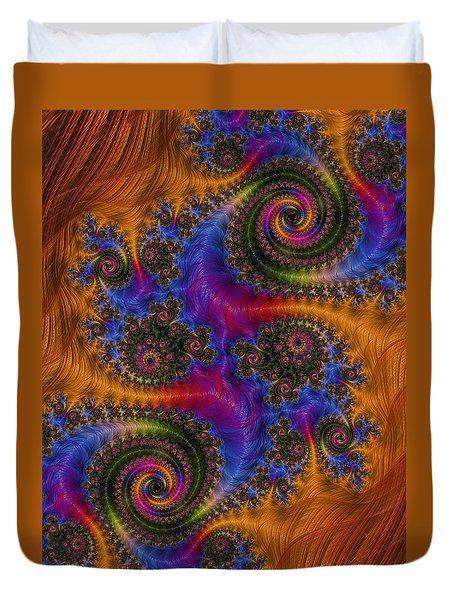 Dizzy Spirals Duvet Cover by Ronda Broatch