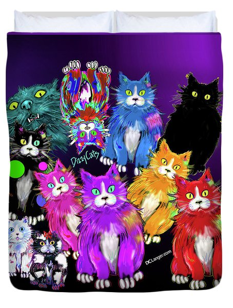 Dizzycats Duvet Cover by DC Langer