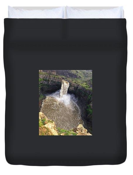 Dizzying Palouse Falls Duvet Cover