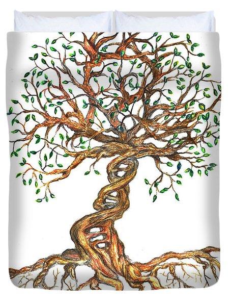 Dna Tree Of Life Duvet Cover