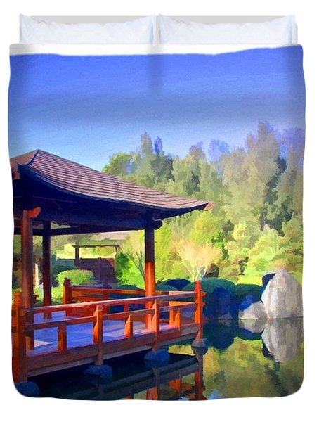 Do-00003 Shinden Style Pavilion Duvet Cover