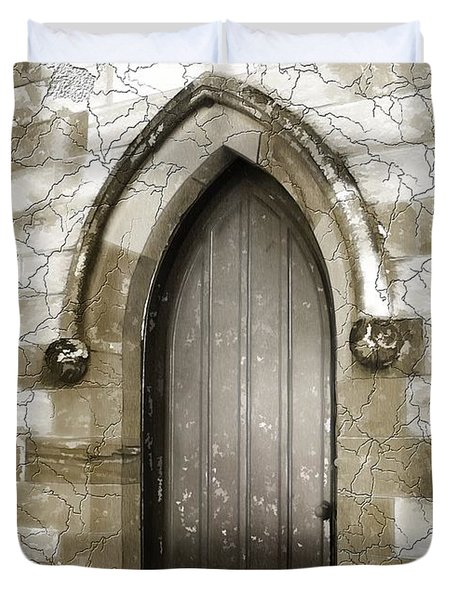 Duvet Cover featuring the photograph Do-00055 Chapels Door In Morpeth Village by Digital Oil