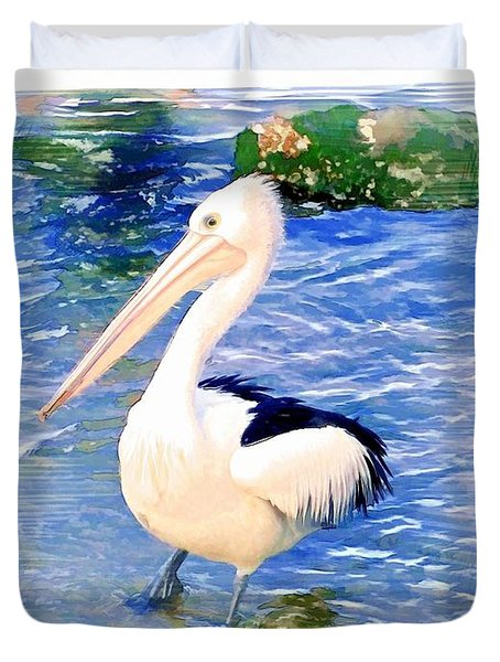 Do-00088 Pelican Duvet Cover