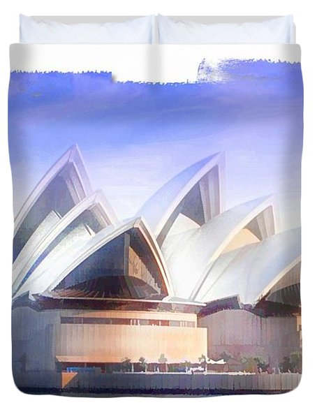 Duvet Cover featuring the photograph Do-00109 Opera House by Digital Oil
