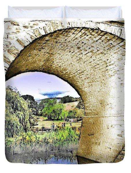 Duvet Cover featuring the photograph Do-00262 Richmond Bridge by Digital Oil