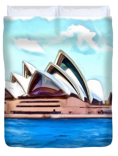 Duvet Cover featuring the photograph Do-00293 Sydney Opera House by Digital Oil