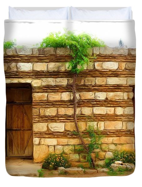 Duvet Cover featuring the photograph Do-00305 Old Hutt In Anjar by Digital Oil