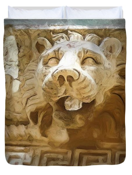 Do-00313 Lion Water Feature Duvet Cover