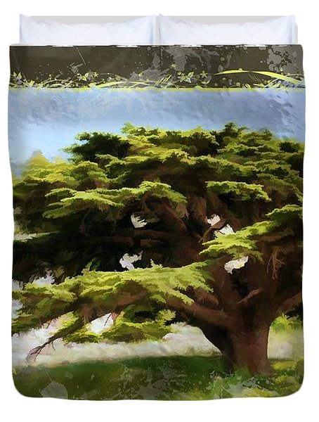 Do-00318 Cedar Barouk - Framed Duvet Cover