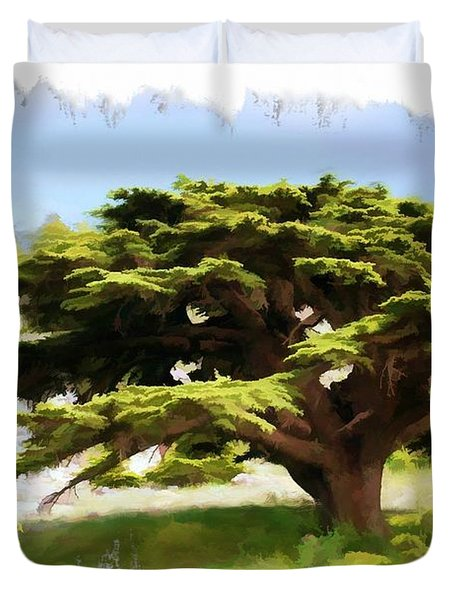 Do-00319 Cedar Tree Duvet Cover