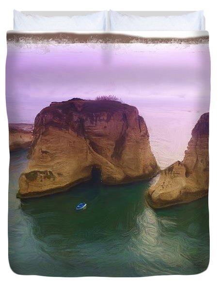 Do-00404 Grotte Aux Pigeons Duvet Cover