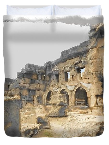 Duvet Cover featuring the photograph Do-00452 Inside The Ruins by Digital Oil