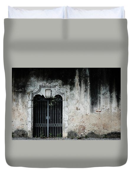 Duvet Cover featuring the photograph Do Not Enter by Marco Oliveira