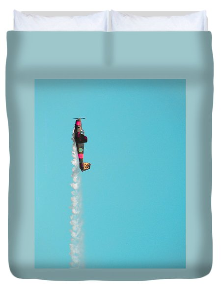 Do Not Press That Buuuutt.. Duvet Cover by Marcus Cederberg