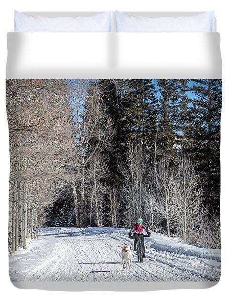 Do They Sell Snow Tires For Bikes Duvet Cover by Carol M Highsmith