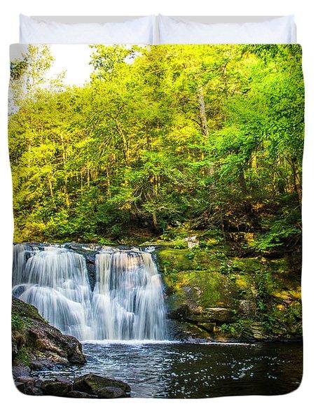 Doans Falls Lower Falls Duvet Cover